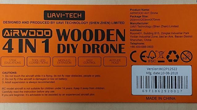 Wooden Diy Drone 技適